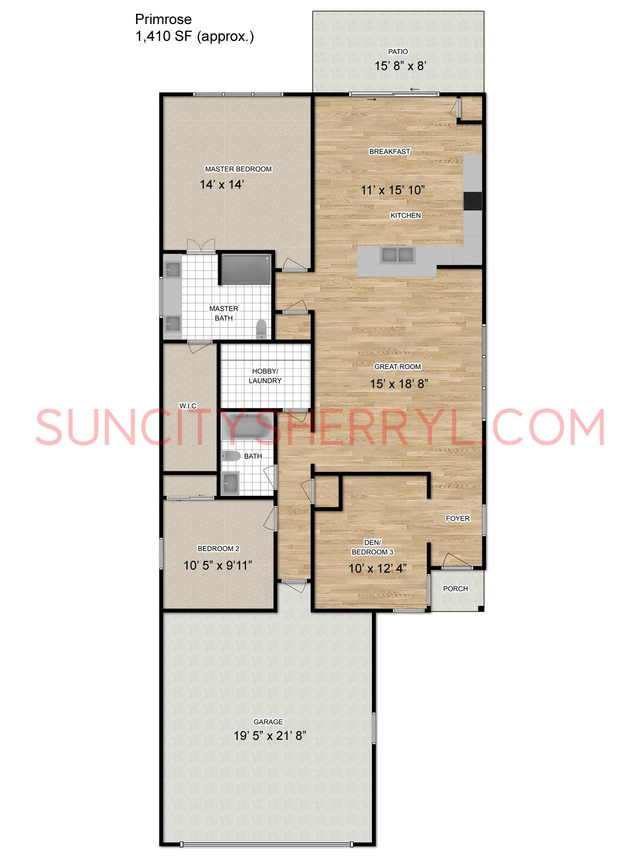 Free Virtual Room Layout Planner: Sun City Hilton Head Floor Plan Primrose